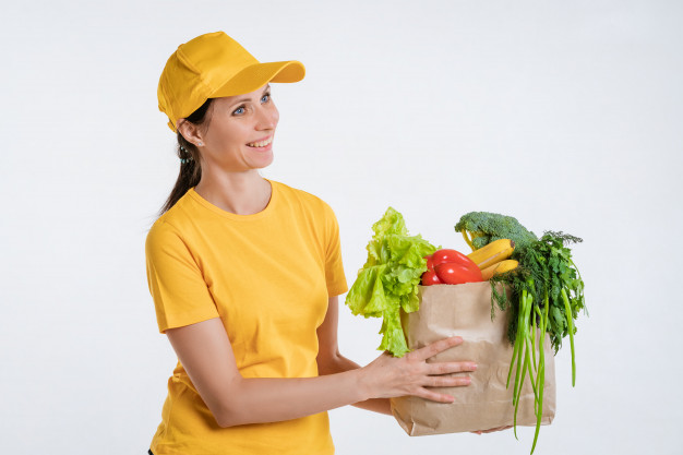 Female-Grocery Delivery-Worker